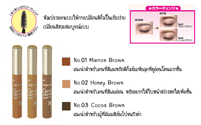 canmake color change eyebrown