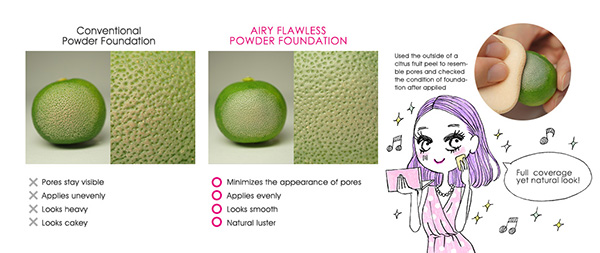 za airy flawless powder foundation
