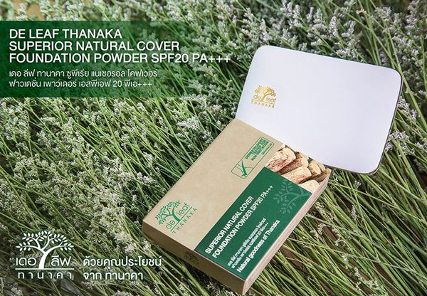 deleaf thanaka superior natural cover foundation powder