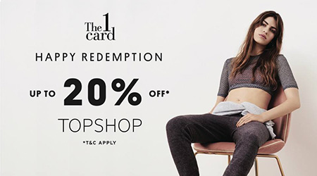 TOPSHOP Happy Redemption up to 20% off