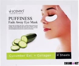 SCENTIO Cucumber Puffiness Fade Away Eye Sheet Mask