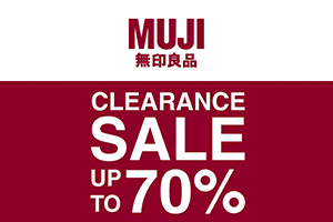 MUJI Clearance Sale up to 70%