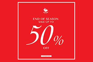 END OF SEASON SALE UP TO 50%