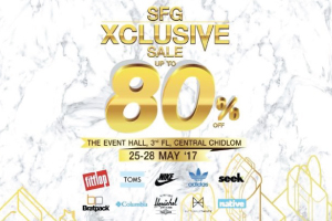 SFG Xclusive Sale 80% @Central Chidlom