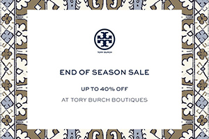 Tory Burch End of Season Sale - up to 40%