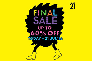 Final Sale up to 60% off!