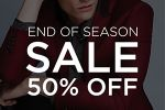 50% OFF! End of Season SALE