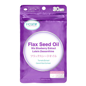 Flax Seed Oil Mix Blueberry Extract Lutein Zeaxanthine
