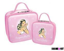 50s style tote cosmetics bag