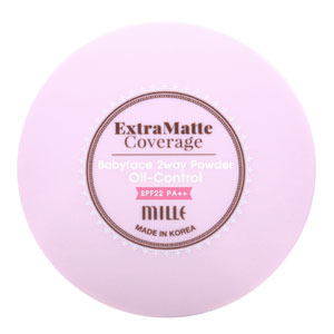 Extra matte coverage baby face 2 way powder oil-control SPF22 PA++