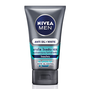 Men White Acne-Oil Control Mud Foam