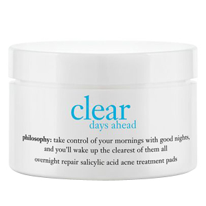 Clear Days Ahead Overnight Repair Salicylic Acid Acne Treatment Pads