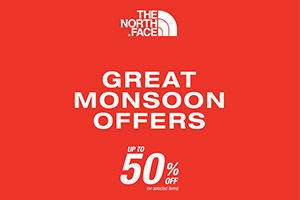Great Monsoon Offers! UP TO 50% off