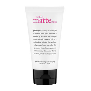 Total Matteness pore-minimizing & mattifying cleanser + mask