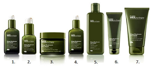 Dr Andrew WeilTM for Origins Mega Mushroom products Skin Relief Collection