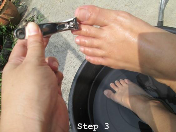 keep feet clean step 3